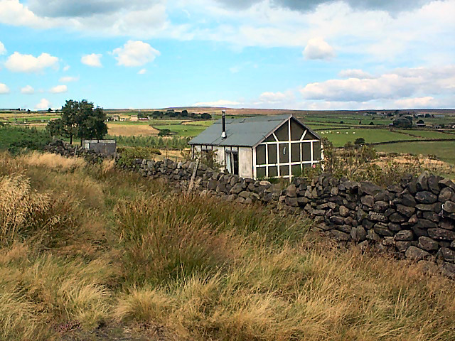 Summer house behind Baildon Moor