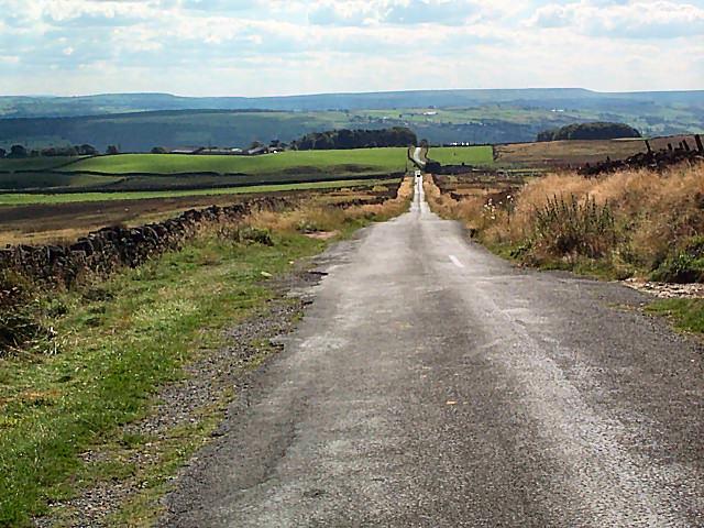 Ilkley Road crossing Morton Moor