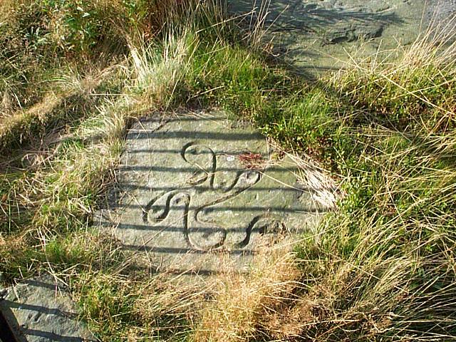 Swastika Stone, Ilkley (reproduction)