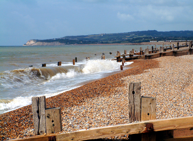 Winchelsea Beach looking towards Fairlight
