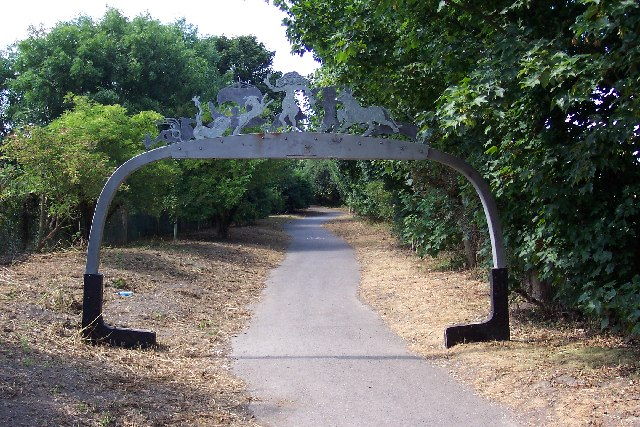 Cycle path sculpture at Fishbourne