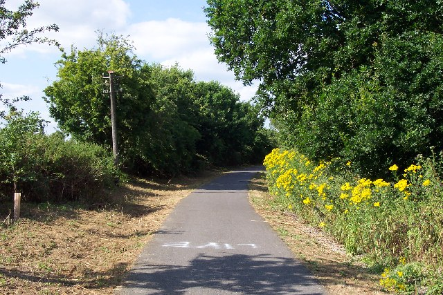 The Centurion Way cycle path near Fishbourne