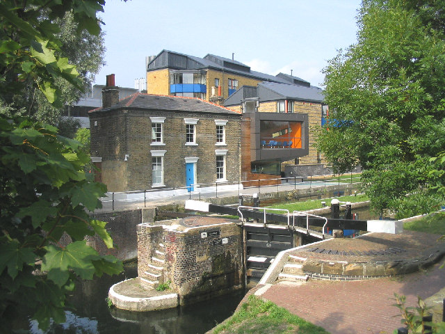 Mile End Lock, Regent's Canal, East London