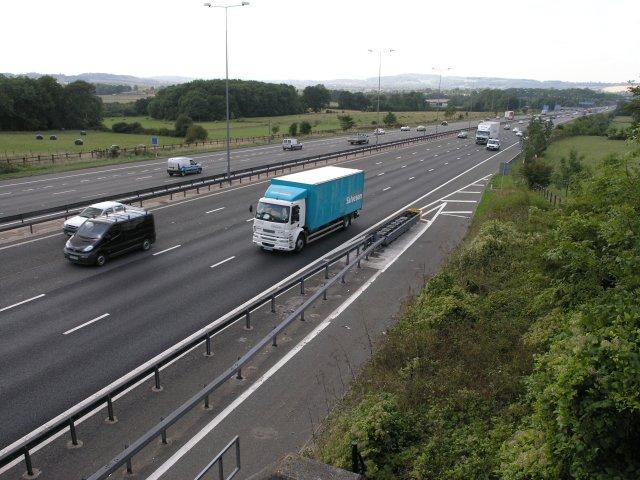M25, near a road crossing
