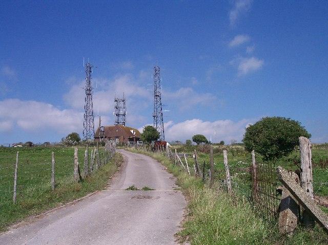Truleigh Hill, radio masts.