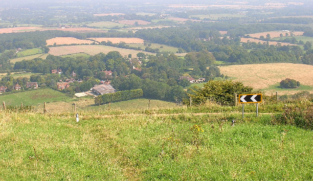 Westmeston from Ditchling Beacon
