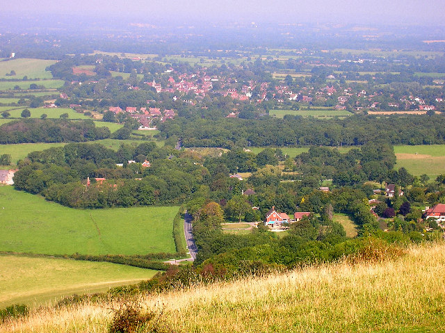 Ditchling from Ditchling Beacon