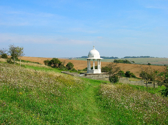 The Chattri War Memorial on the Downs above Brighton.