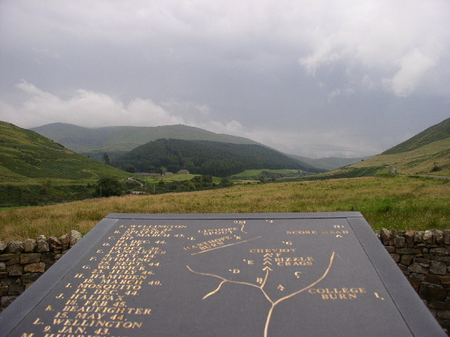 Memorial to Allied Airmen, College Valley