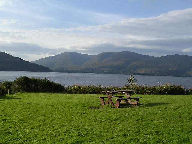Picnic site at Sgeir na-sean Chroit, Loch Linnhe
