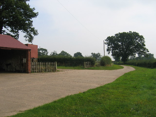 Footpath and driveway