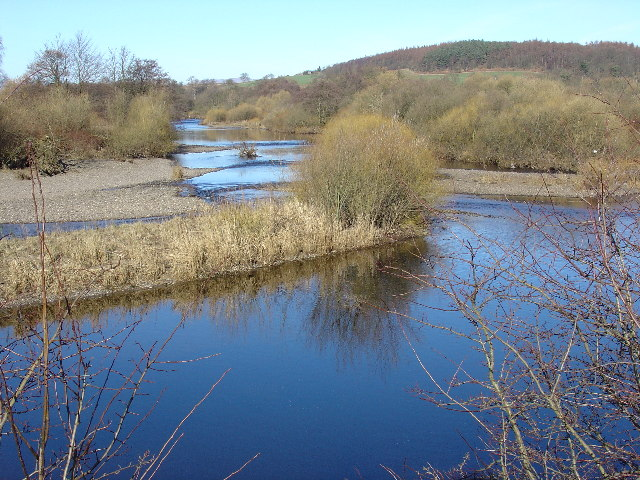 River Teith at Bluebanks, Heathershot Farm, Bridge of Allan