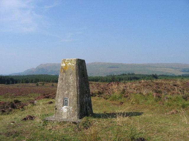 Blairskaith Muir trig. point, East Dunbartonshire