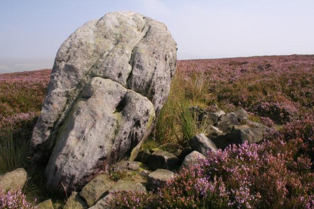 Glacial erratic, Midgley Moor