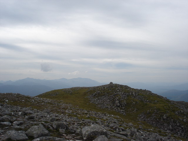 Summit cairn Beinn Teallach near Roybridge