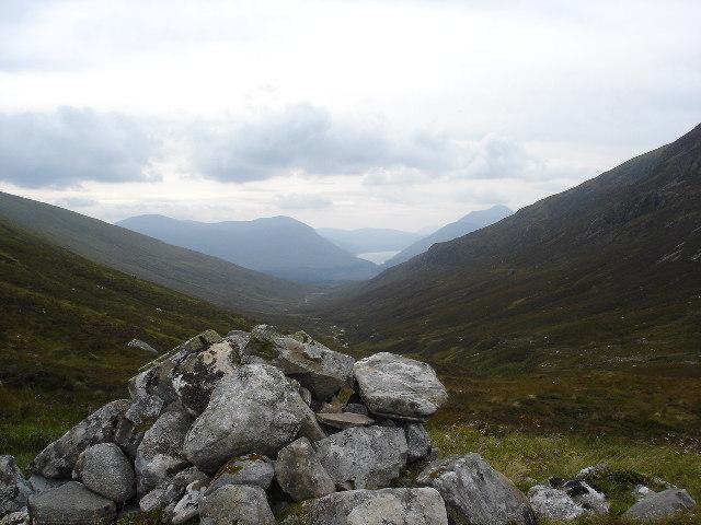 Cairn at Beallach between Beinn Teallcah and Beinn a Chaorainn