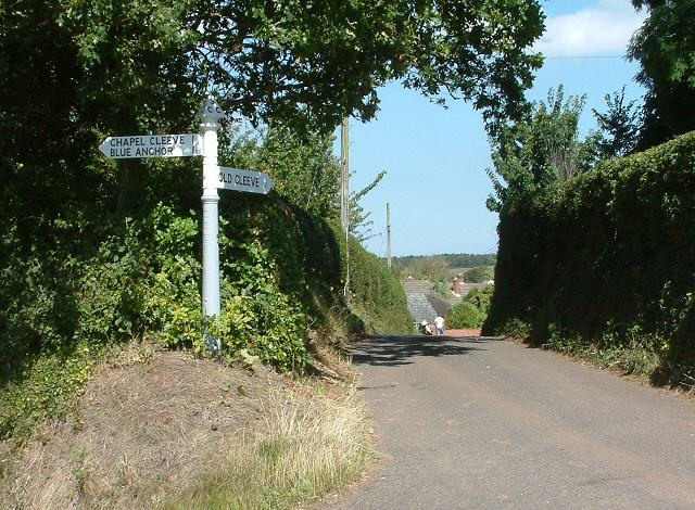 Road junction at Old Cleeve