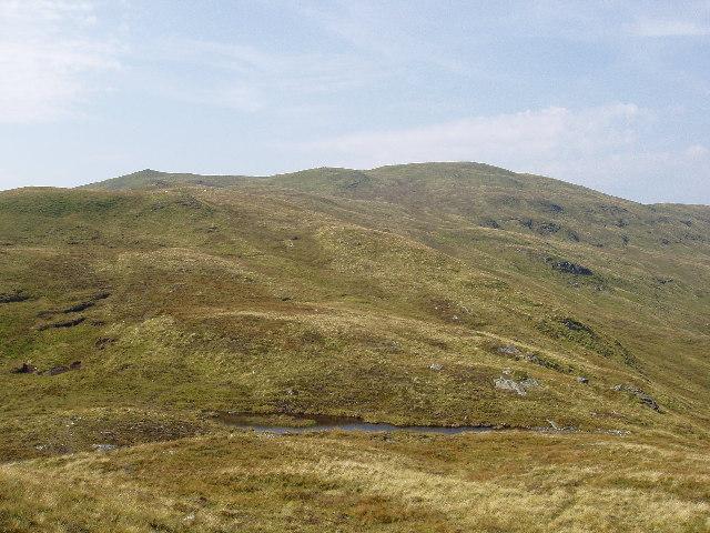 Peat hag on the East Ridge of hill