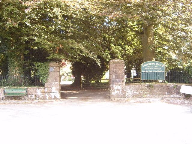Whernside Manor entrance.