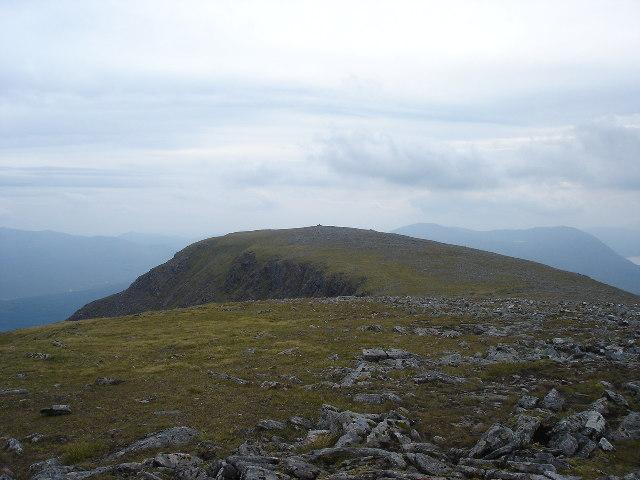 South top Beinn Chaorainn from main summit