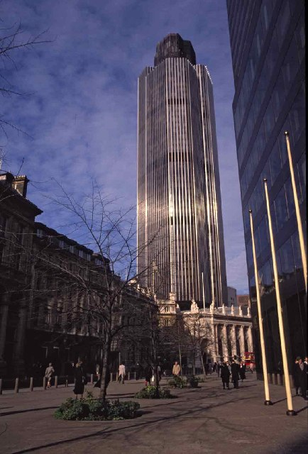 Tower 42 which used to be called the NatWest Tower