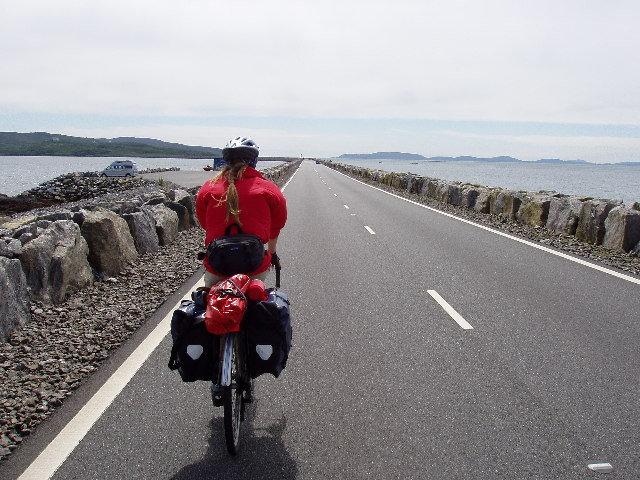 Cycle touring over the Eriskay - South Uist causeway