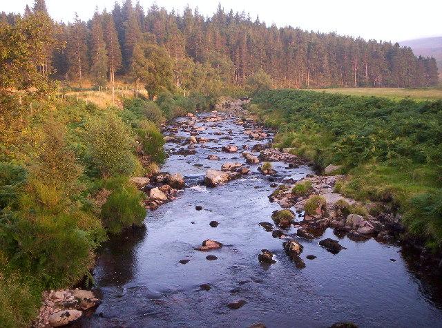 View From Bridge Over Water Of Dye - Glen Dye