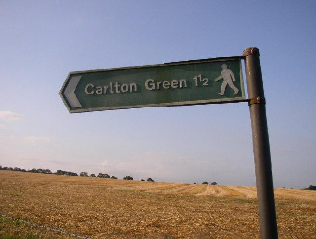 Sign by Carlton Hall Farm