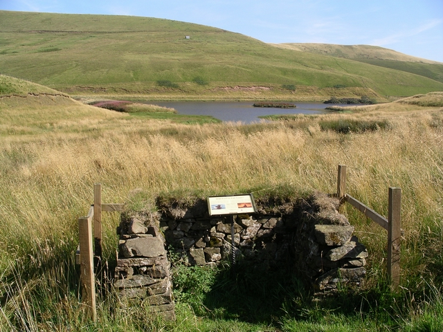 Information post, North Esk Reservoir