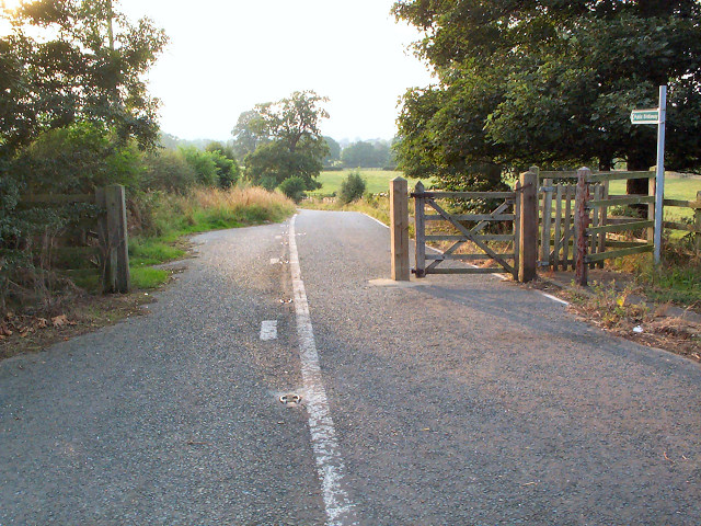 Former route of A660 near Burley