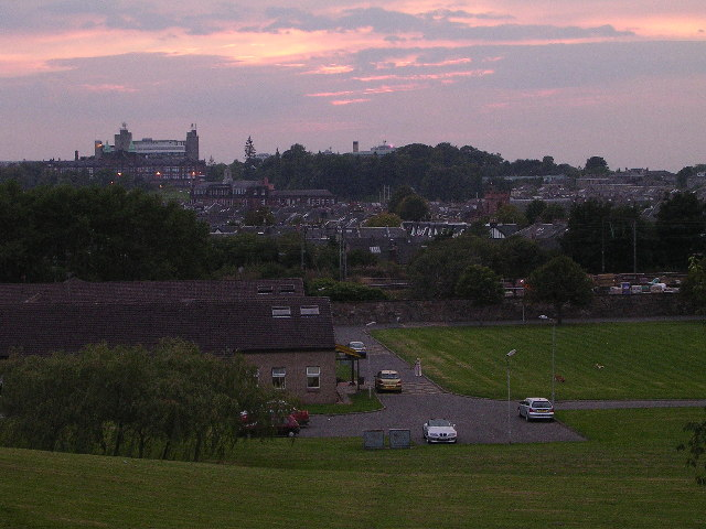 Sunset at Gartnavel Hospital