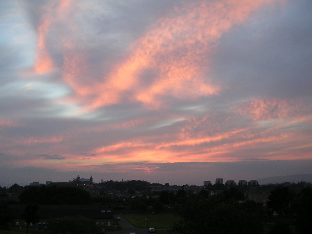 Sunset from Gartnavel Hospital