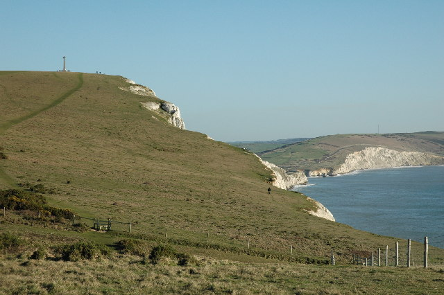 Coastal path looking towards Tennyson's monument