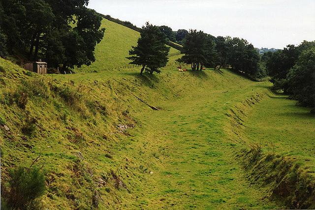 Mary Tavy: old railway embankments