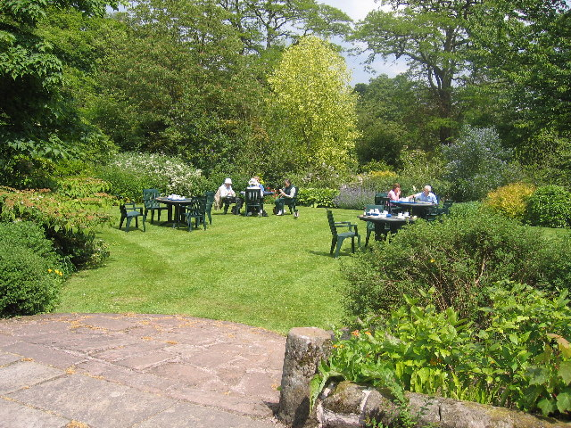 Hodnet Hall, the lawn by the teashop