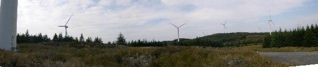 Windfarm on Deucheran Hill, Kintyre, Argyll
