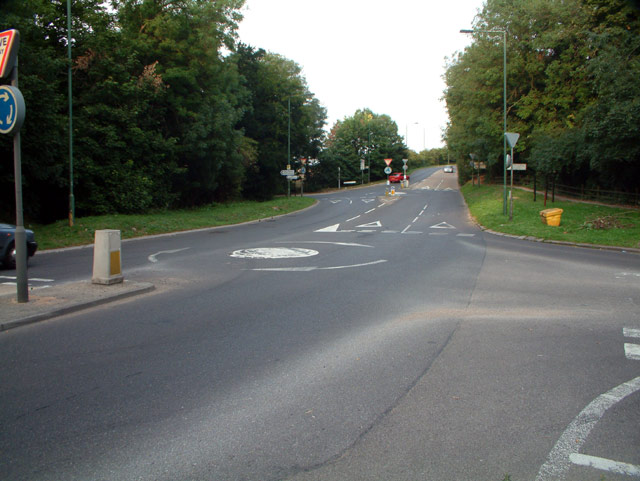 A2022 junction with B278 in Surrey