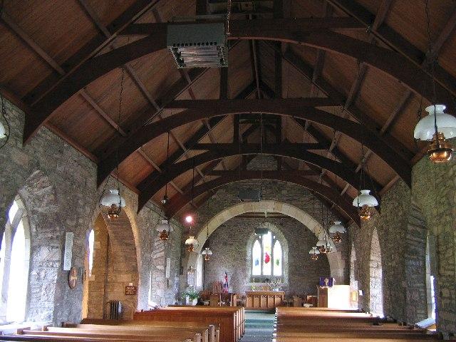 Interior St Bean's Church, Fowlis Wester, Perthshire