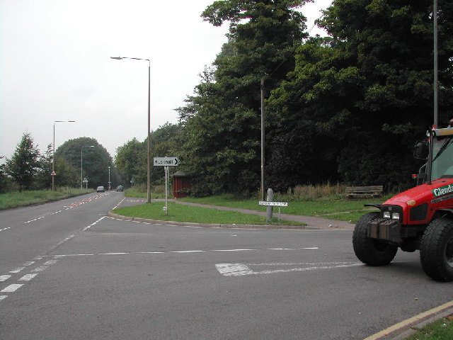 Junction of Main Road and Narrow Lane Watnall