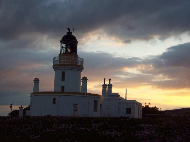 Chanonry Point Lighthouse at sunset