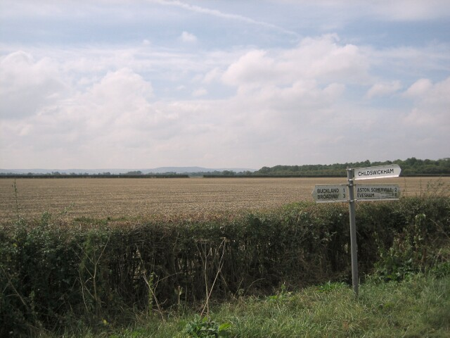 Fields near Buckland