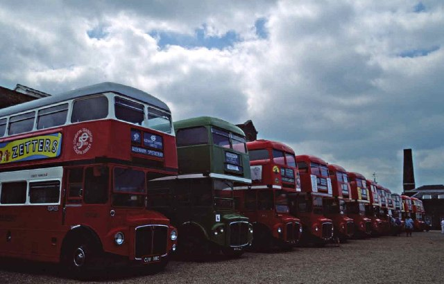 Routemasters at Chatham Dock