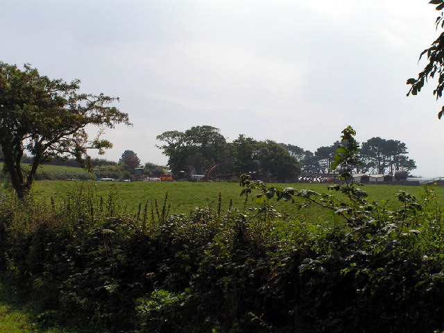 View across fields to High Boonwood Farm, Gosforth