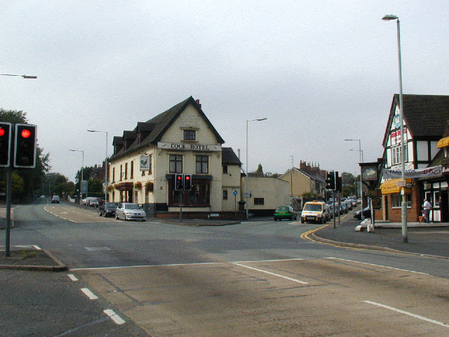 Cock Hotel and old A5