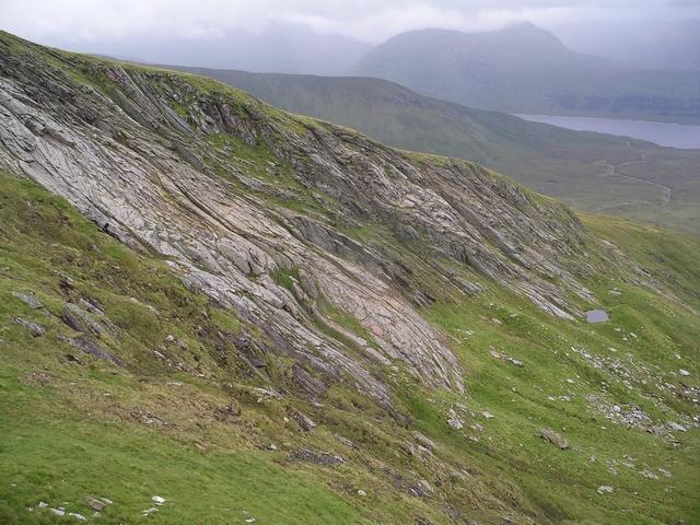Glaciated slabs, Toll Beag