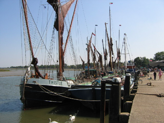 Barges Moored after the Barge Race
