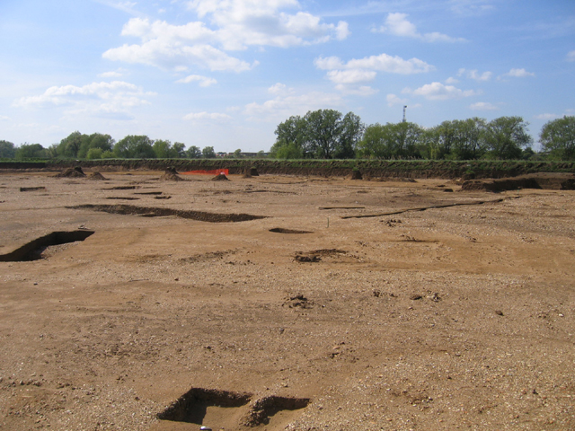Archaeological dig east of Bedford