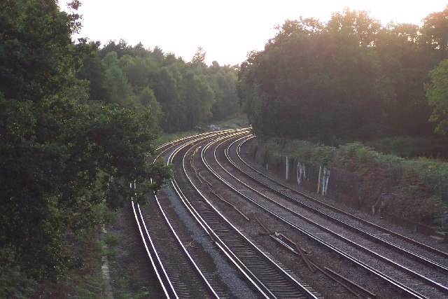 Rails heading into the sunset