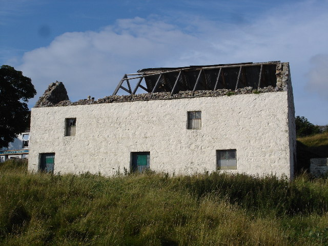 Storm damaged byre/barn