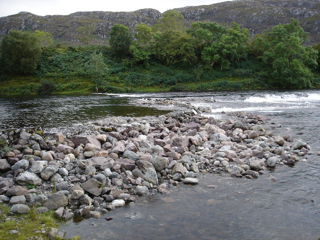 Weir on the River Ewe